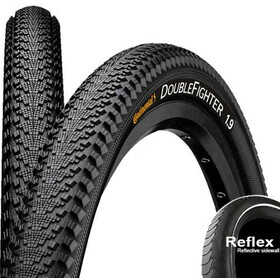 "Continental Double Fighter III Bike Tire 20""Reflex black/silver"